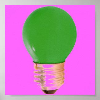 LIGHTBULB BRIGHT IDEA POSTER