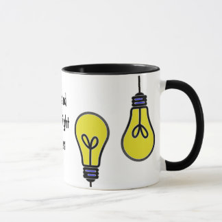 Lightbulb Bright Ideas Design Mug