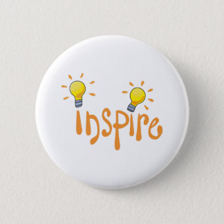 LIGHTBULB INSPIRE 6 CM ROUND BADGE