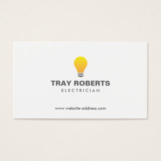 LIGHTBULB LOGO No. 1 Business Card