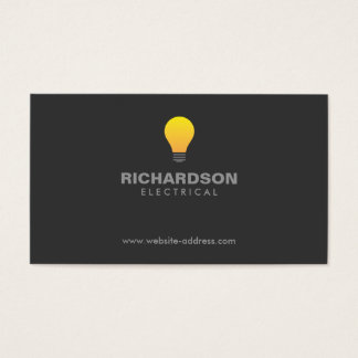 LIGHTBULB LOGO No. 2 Business Card