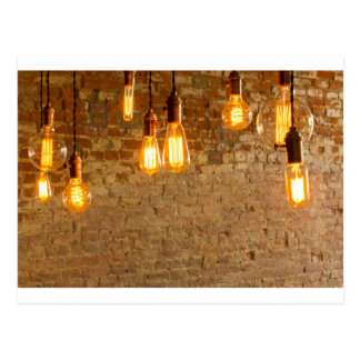 Lightbulbs Background Postcard
