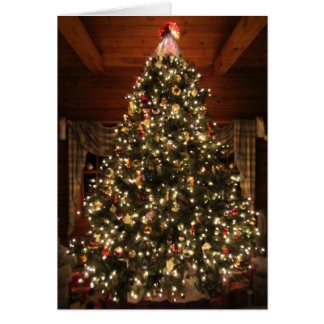 Lighted Christmas Tree Card