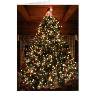 Lighted Christmas Tree Card2 Card
