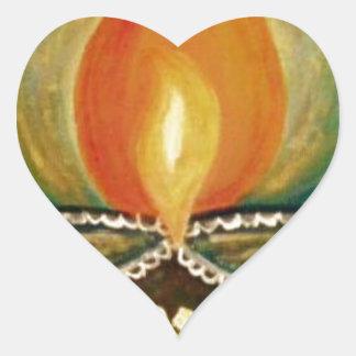 lighted diya heart sticker