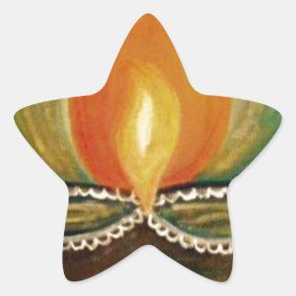 lighted diya star sticker