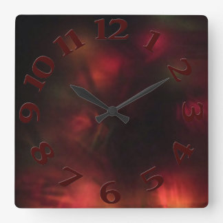 Lighted Face Square Wall Clock