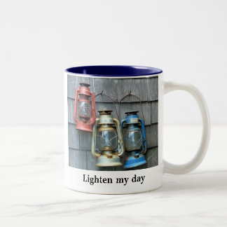 Lighten my day Two-Tone coffee mug