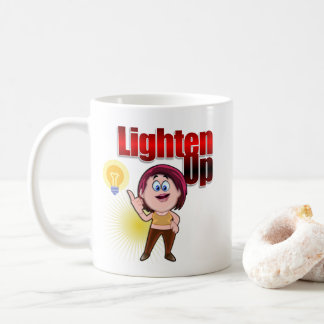 Lighten UP with Red-haired little girl Coffee Mug