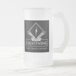 Lightening Frosted Glass Beer Mug