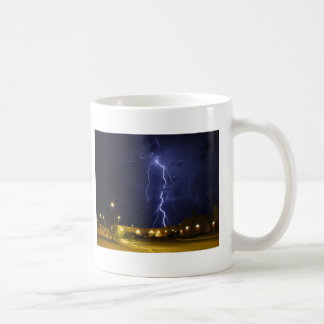Lightening strike coffee mug
