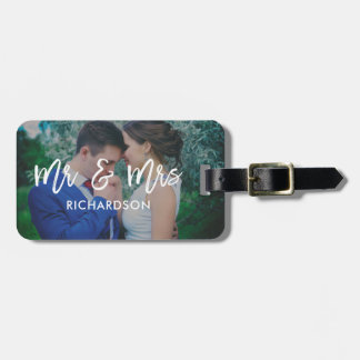 Lighthearted Bliss | Mr & Mrs Photo Luggage Tag