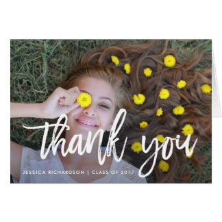 Lighthearted Thanks | Graduation Photo Thank You Card