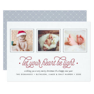Lighthearted | Three Photo Holiday Card