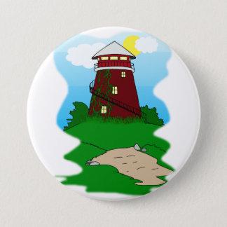 Lighthouse 7.5 Cm Round Badge