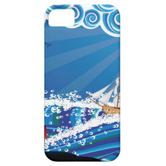 Lighthouse and Boat in the Sea 3 iPhone 5 Case