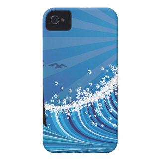 Lighthouse and Boat in the Sea 4 Case-Mate iPhone 4 Case
