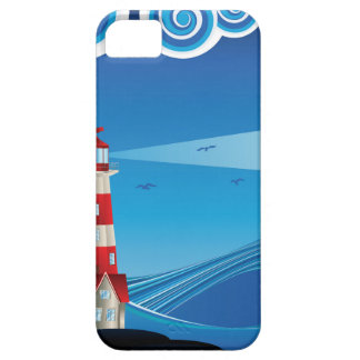Lighthouse and Boat in the Sea 5 iPhone 5 Covers