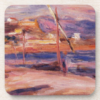 Lighthouse and Fort Carre Antibes by Pierre-August Drink Coasters