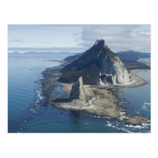 Lighthouse and rock pinnacle at Cape St. Elias 2 Postcard