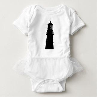lighthouse art design black fashion baby bodysuit