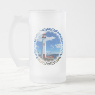 Lighthouse Art Frosted Beer Mug