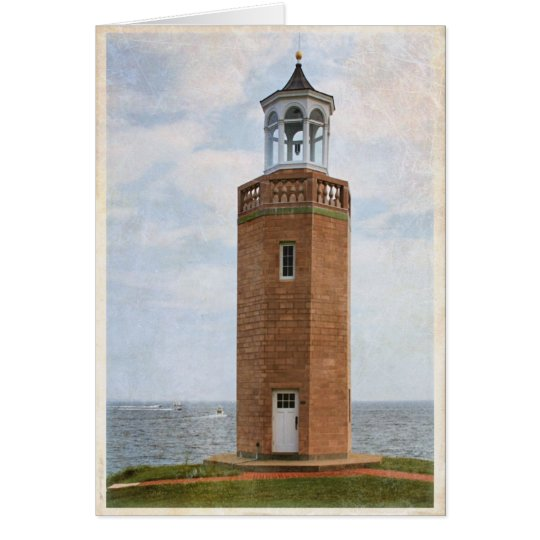 Lighthouse at Avery Point, Groton CT - Blank Card