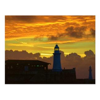 Lighthouse At Dawn Postcard