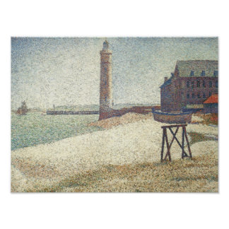 Lighthouse at Honfleur Poster