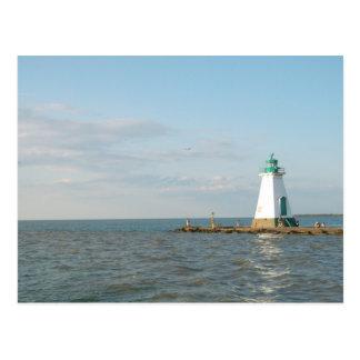 Lighthouse At Lake Ontario Postcard