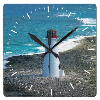 Lighthouse at Nassau in the Bahamas Clock