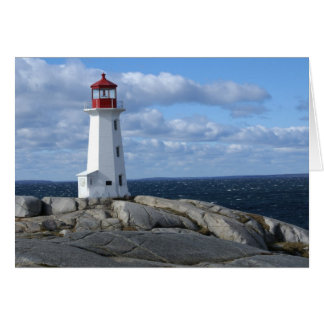 Lighthouse at Peggy's Cove Card