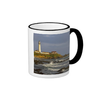 Lighthouse at Pigeon Point State Beach in San 2 Ringer Mug