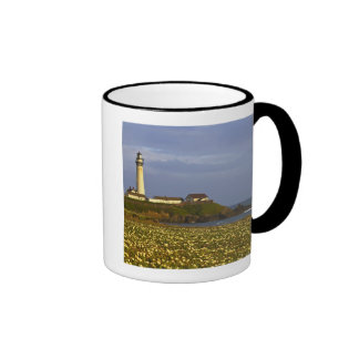 Lighthouse at Pigeon Point State Beach in San Ringer Mug