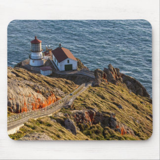 Lighthouse At Point Reyes National Seashore Mouse Pad