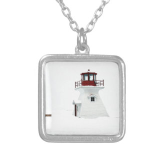 Lighthouse at Richards Landing Silver Plated Necklace
