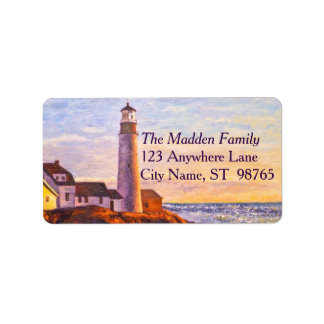 Lighthouse at Sunrise Address Label