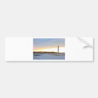 Lighthouse at Sunset Bumper Sticker
