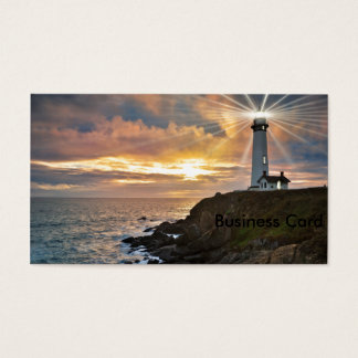Lighthouse at Sunset Business Card