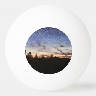 Lighthouse at sunset ping pong ball