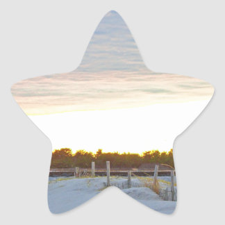 Lighthouse at Sunset Star Sticker