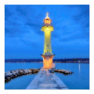 Lighthouse at the Paquis, Geneva, Switzerland Card