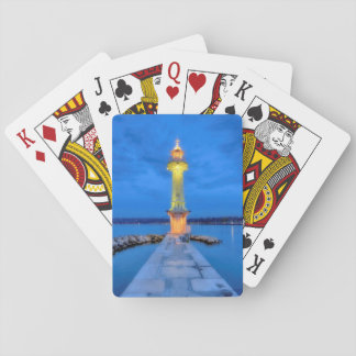Lighthouse at the Paquis, Geneva, Switzerland Playing Cards