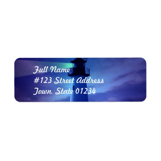 Lighthouse Beacon Mailing Label Return Address Label