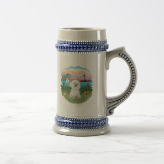 Lighthouse - Bichon Frise #4 Beer Stein