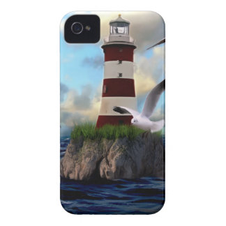 Lighthouse Birds Flying Case-Mate iPhone 4 Cases