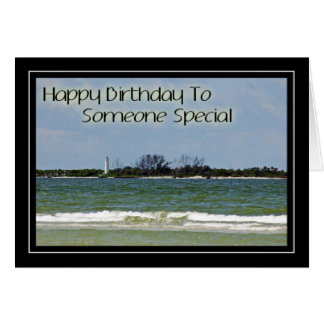 Lighthouse Birthday Card