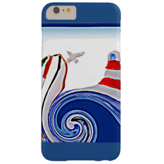 Lighthouse Boat on Stormy Abstract Seas Barely There iPhone 6 Plus Case