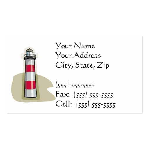 Lighthouse Business Card Template