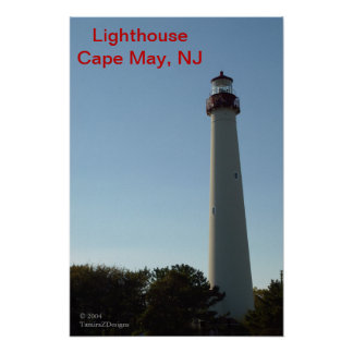 Lighthouse, Cape May, NJ Poster